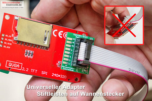 Stiftleiste-Wannenstecker-Adapter